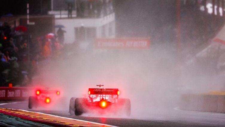 Limité à deux tours derrière la voiture de sécurité, leGrand Prix de Belgique 2021 a tourné court. (ANTONIN VINCENT / DPPI via AFP)