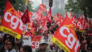 Des opposants à la loi Travail manifestent à Paris, le 14 juin 2016. (MAXPPP)