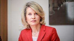 Anne Génetet,la députée LREM de la 11e circonscription des Français de l'étranger, qui englobe l'Asie du sud-est, le 16 mai 2019 à Paris. (LUC NOBOUT / MAXPPP)
