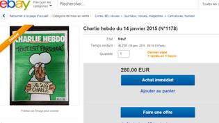Capture d'écran d'une page du site eBay, le 14 janvier 2015. (EBAY / FRANCETV INFO)