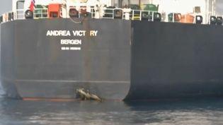 Quatre naviresauraientété victimes de sabotages au large de l'Iran. Ces incidents renforcent le ressentiment que cultivent les États-Unis envers l'Iran. (FRANCE 2)