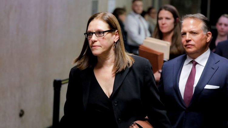La procureure Joan Illuzzi-Orbon à la Cour suprême de New York (Etats-Unis), le 22 janvier 2020. (LUCAS JACKSON / REUTERS)