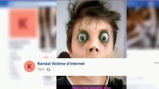 """France 3 a recueilli le témoignage d'un père qui a perdu son fils de 14 ans. Il est persuadé que Kendal s'est donné la mort au cédant au piège d'un jeu macabre sur les réseaux sociaux, le """"Momo challenge"""". (FRANCE 3)"""