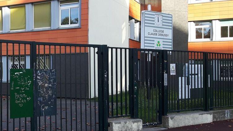 L'entrée du collège Claude Debussy, à Aulnay-sous-Bois(Seine-Saint-Denis). (RADIO FRANCE / RÉMI BRANCATO)