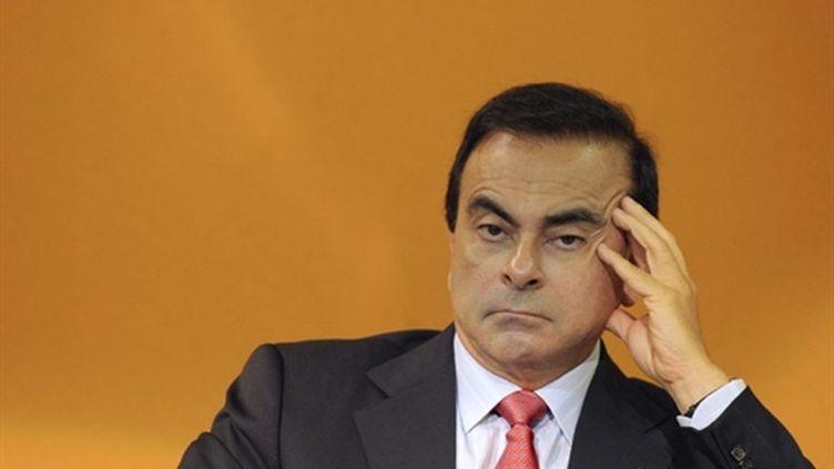 Le patron de Renault, Carlos Ghosn, est le chef d'entreprise le mieux payé du CAC 40 (AFP - MIGUEL MEDINA)