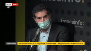 Olivier Bogillot, président de Sanofi France, mardi 13 octobre 2020. (FRANCEINFO / RADIOFRANCE)