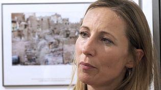 """Véronique de Viguerie, Visa d'or 2018 à Perpignan pour """"Yémen : la guerre qu'on nous cache""""  (Raymond Roig / AFP)"""