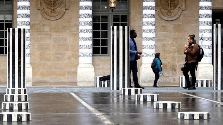 """""""A l'échelle de la ville"""", Jean Faucheur, Palais Royal, 2018  (Jean FAUCHEUR / handout / AFP)"""