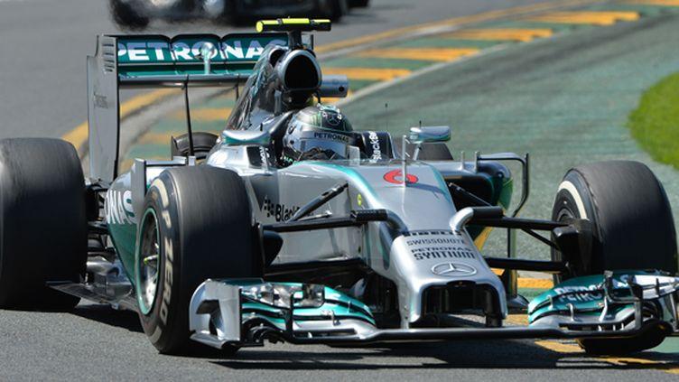 Nico Rosberg (Mercedes) en verve à Melbourne (PAUL CROCK / AFP)