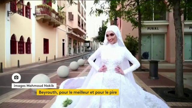 Beyrouth : les photos d'une jeune mariée bouleversée par l'explosion