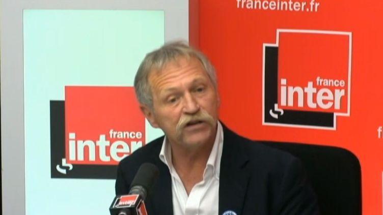 José Bové,eurodéputé EELV, sur France inter, à Paris, le 15 mai 2014. (FRANCE INTER / FRANCETV INFO)
