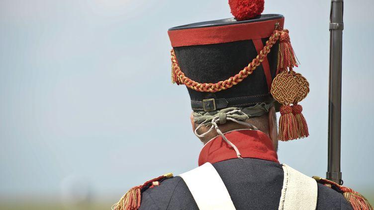 Reconstitution de la bataille de Ligny, dernière victoire de Napoléon en 1815. (JEAN-LUC FLEMAL / MAXPPP)