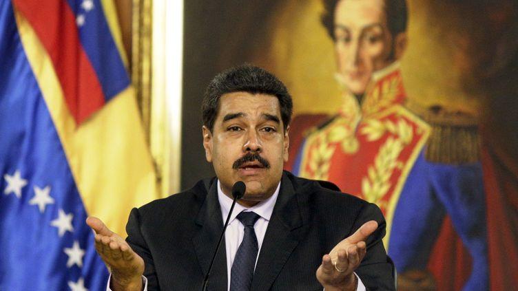 Le président vénézuélien, Nicolas Maduro, le 12 avril 2016 à Caracas. (MARCO BELLO / REUTERS)