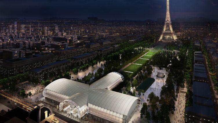 Le Grand Palais éphémèreabritera en 2024 les compétitions de judo et de lutte des Jeux Olympiques. (Wilmotte & Associés Architectes)