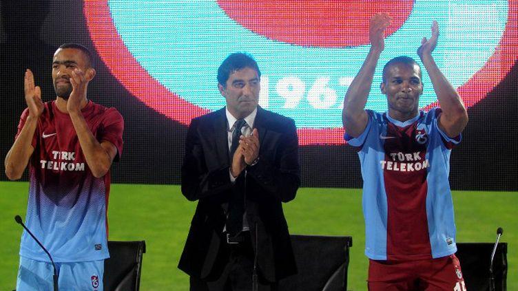 Jose Bosingwa et Florent Malouda présentés à Trabzonspor (SELCUK KILIC / ANADOLU AGENCY)
