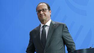 Le président François Hollande à Berlin (Allemagne), le 24 août 2015. (CITIZENSIDE/REYNALDO CHAIB PAGAN /AFP)