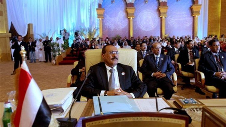 Ali Abdallah Saleh, président du Yémen, 30 mars 2009 (AFP Marwan Naamani)