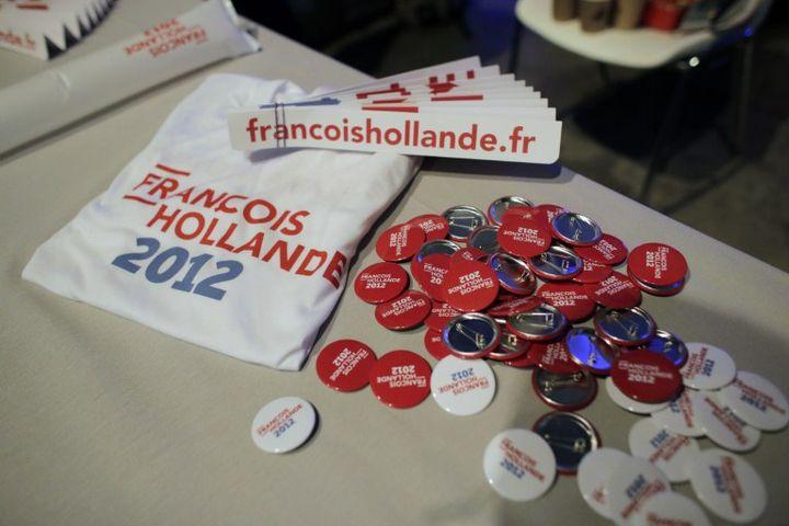 Au meeting de François Hollande au Bourget (Seine-Saint-Denis), le dimanche 22 janvier 2012. (THOMAS COEX / AFP)