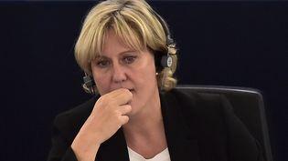 Nadine Morano au Parlement européen le 7 octobre 2015 à Strasbourg (PATRICK HERTZOG / AFP)