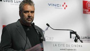 Luc Besson inaugure La Cité du Cinéma le 21 septembre 2012  (Thibault Camus/AP/SIPA)