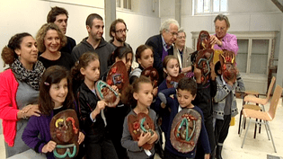 """Gérard Garouste lance son cinquième atelier de la fondation """"La source"""" à la maison Rodin à Meudon  (France 3 / Culturebox)"""