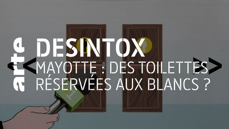 Non, il n'y a pas de toilettes réservées aux blancs et aux noirs à Mayotte (ARTE/2P2L)