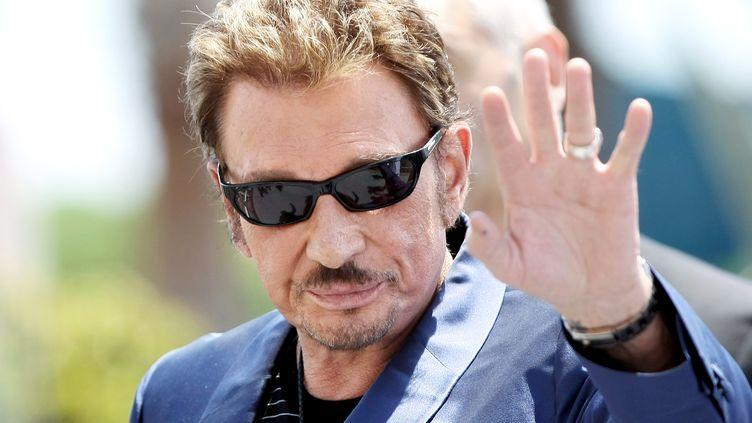 Johnny Hallyday, le 17 mai 2009, à Cannes. (IAN LANGSDON / EPA )