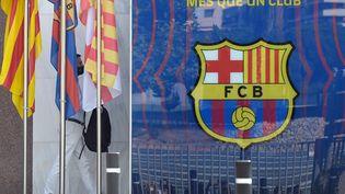 Le siège du FC Barcelone en Espagne, le 14 août 2020. (JOSEP LAGO / AFP)