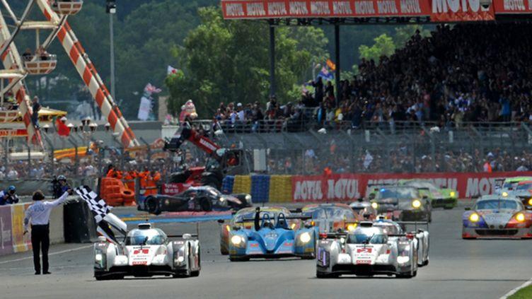Le doublé des Audi aux 24 Heures du Mans 2014  (GUILLAUME SOUVANT / AFP)
