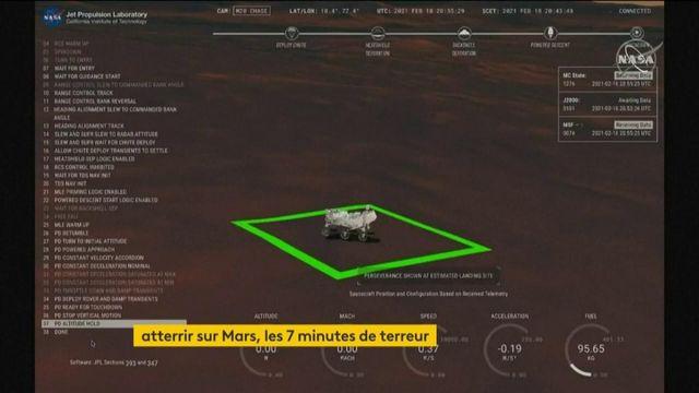Le robot Perseverance atterrit sur Mars après sept mois de voyage