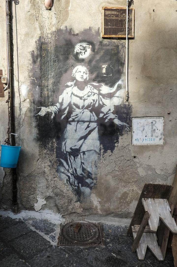 La Madone de Banksy  (Yannis Vlamos/Sipa)