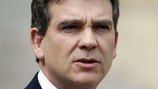 Le ministre du Redressement productif,Arnaud Montebourg, le 2 mai 2013 à l'Elysée. (CHARLES PLATIAU / REUTERS)