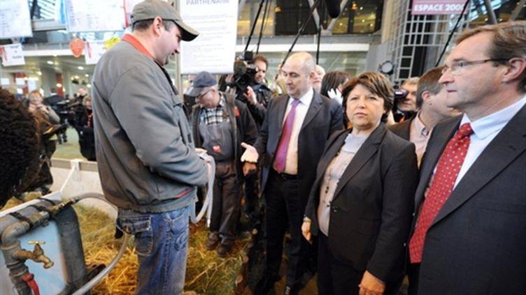 Martine Aubry, Première secrétaire du PS, au Salon de l'Agriculture, mercredi 23 février 2011 (AFP)