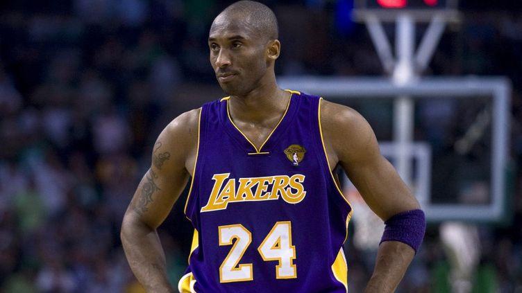 Le joueur des Lakers, Kobe Bryant, lors de la finale de la NBA face à Boston, à Boston (Massachusetts), le 11 juin 2010. (TOLGA ADANALI / ANADOLU AGENCY)
