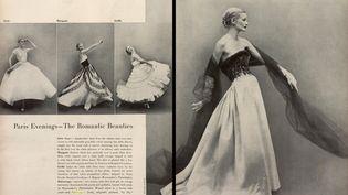 """Exposition """"Harper's Bazaar.Premier magazine de mode""""au MAD jusqu'au 14 juillet 2020 :. Avedon. Sunny Harnette pour Harper's Bazaar. Octobre 1954 (2015, Pro Quest LLC All rights reserved)"""