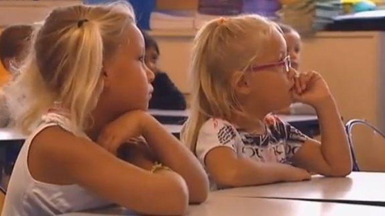A l'école d'Irigny, près de Lyon (Rhône), mardi 4 septembre. (FRANCE 2)