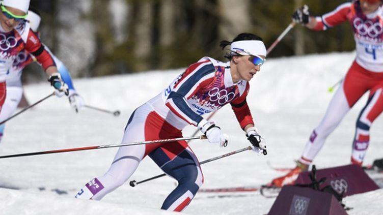 La Norvégienne Marit Bjoergen (ODD ANDERSEN / AFP)