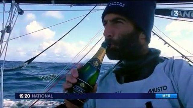 Armel Le Cléac'h en tête du Vendée Globe