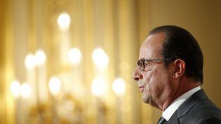 Le président de la République, François Hollande, lors d'une conférence de presse à l'Elysée, le 7 septembre 2015. (  MAXPPP)