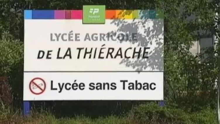 Le lycée agricole de la Thiérache, à Fontaine-lès-Vervins (Aisne), le 16 mai 2012. (CAPTURE D'ÉCRAN FRANCE 2)