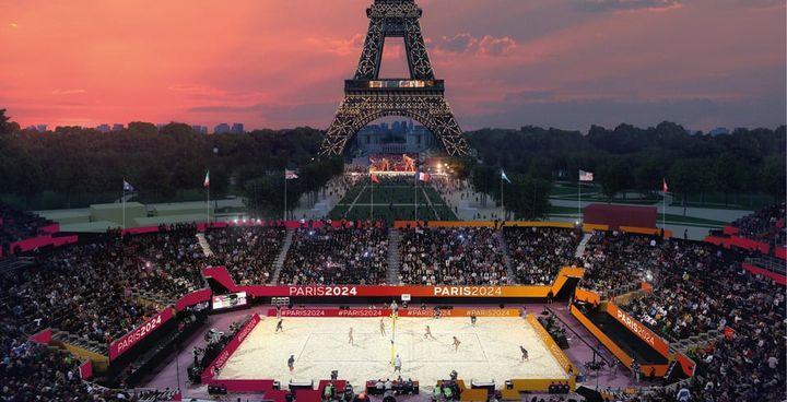 Le beach volley sous la Tour Eiffel