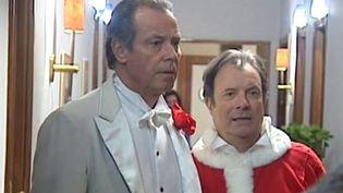"""Michel Leeb et Daniel Russo sur le tournage de """"La guerre du Royal Palace""""  (France3 / Culturebox)"""