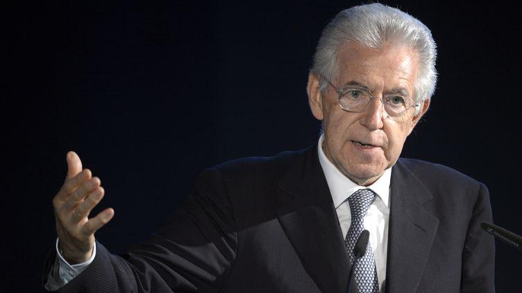 Le chef du gouvernement italien, Mario Monti, le13 juin à Berlin. (JOHN MACDOUGALL / AFP)