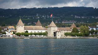 La ville de Rolle, dans le canton de Vaud (Suisse), le 13 octobre 2014. (MAXPPP)