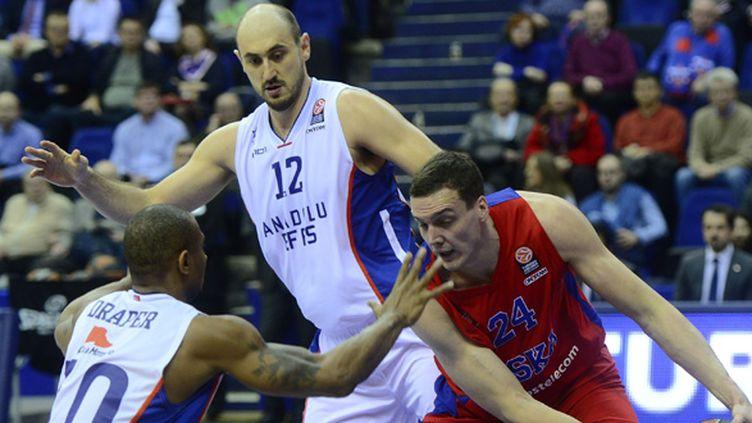 Sasha Kaun (CSKA Moscou) a inscrit 16 points face à l'Effes (SEFA KARACAN / ANADOLU AGENCY)