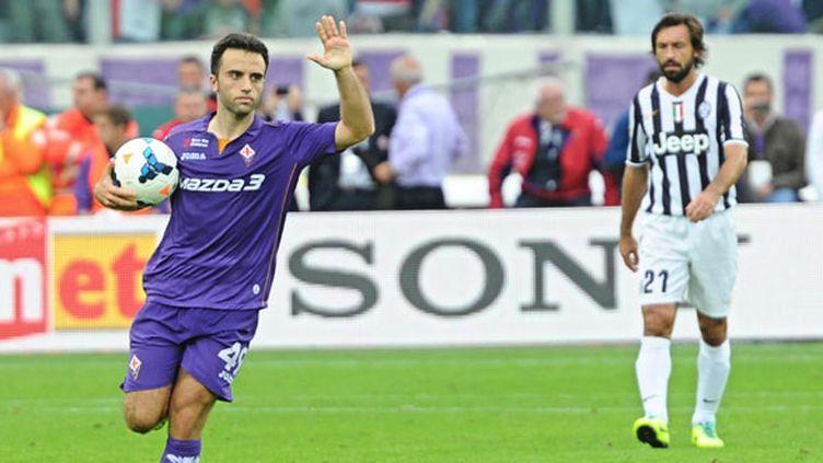 L'attaquant italien de la Fiorentina Giuseppe Rossi