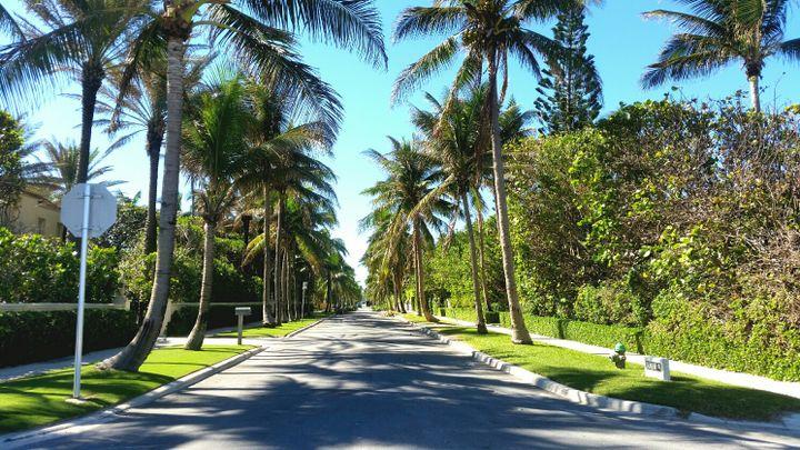 Le quartier de Toni Holt Kramer, à Palm Beach. (BENJAMIN ILLY / RADIO FRANCE)