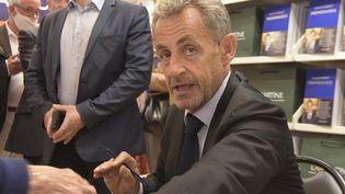 L'ancien président de la République Nicolas Sarkozy à Neuilly-sur-Seine (Haut-de-France) le 21 septembre 2021. (FRANCOIS PAULETTO / HANS LUCAS)