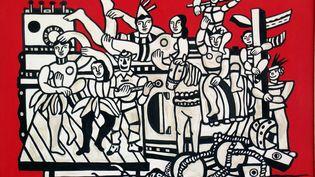 """Fernand Léger, """"La Grande Parade"""", 1953, Huile sur toile, 114 x 156 cm. Musée national Fernand Léger, Biot (© Photo : Rmn-Grand Palais (musée Fernand Léger)/ Gérard Blot. ©ADAGP, Paris, 2019.)"""