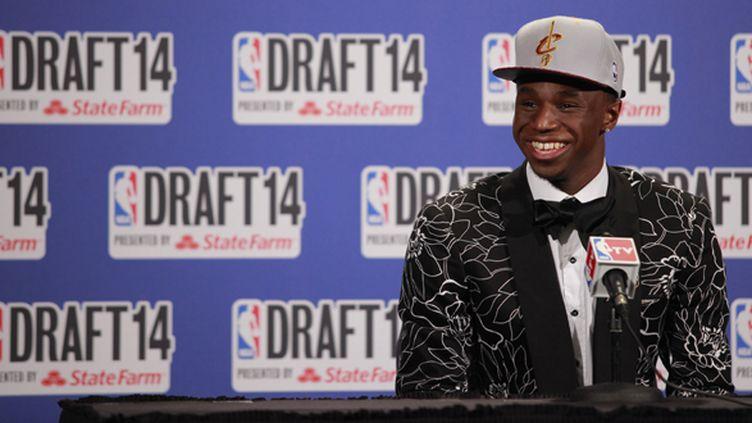 Andrew Wiggins, premier choix de Cleveland pour la Draft 2014 (JEYHOUN ALLEBAUGH / NBAE / GETTY IMAGES)